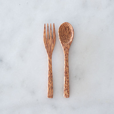 Green Essentials Coconut Cutlery - Fork and Spoon