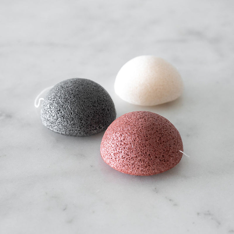 Konjac Sponge Unpackaged - Red Clay - Dry Mature