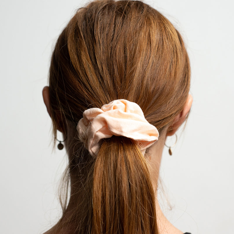 Kooshoo Certified Organic Scrunchies - Blush Walnut