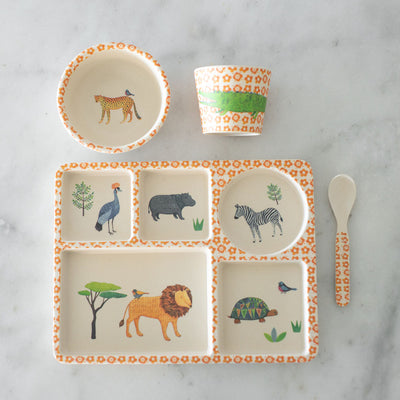 Love Mae Bamboo Divided Plate Set - On Safari