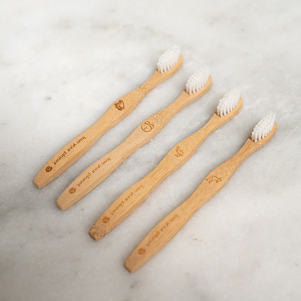 Love Your Planet Kids Bamboo Toothbrush - 4 Pack