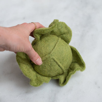 Papoose Toys Felt Cabbage / Lettuce