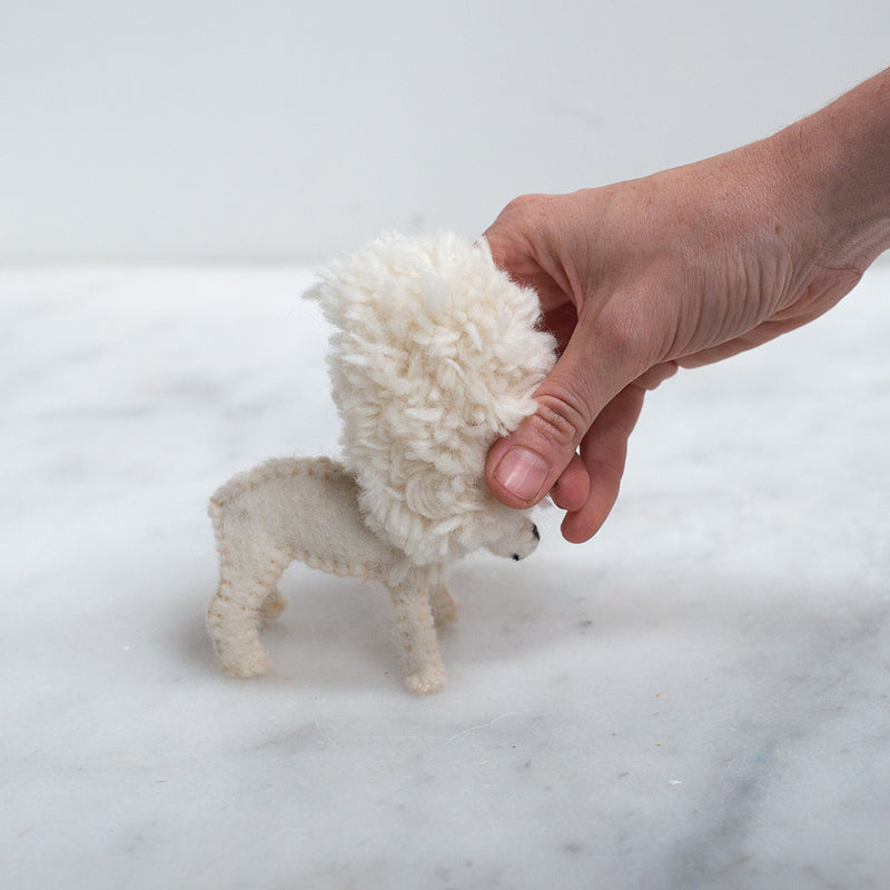 Papoose Toys Sheep with Removable Coat