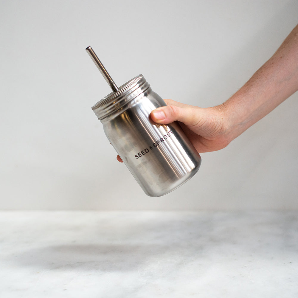 Seed and Sprout Insulated Stainless Steel Smoothie Cup