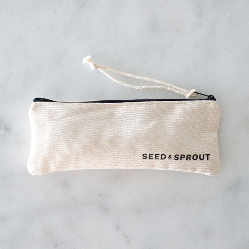 Seed and Sprout Travel Utensil Pouch Set