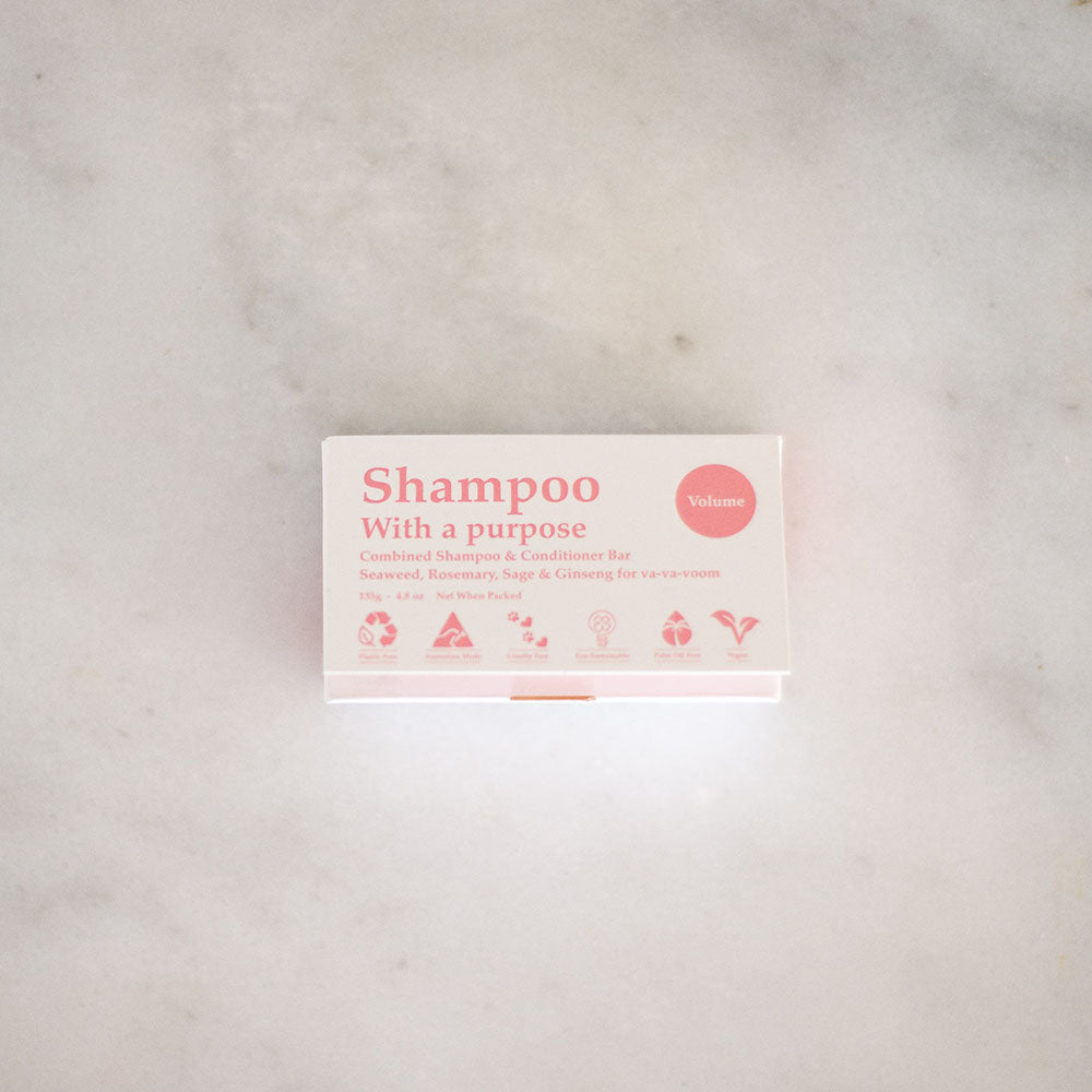 Shampoo With A Purpose Shampoo & Conditioner Bars - Volume