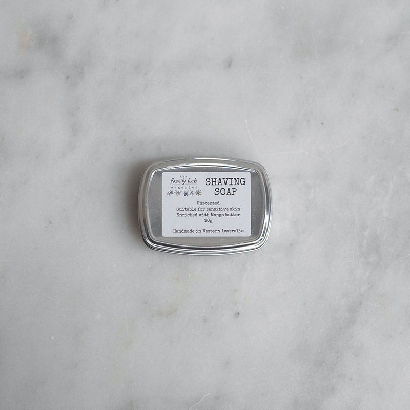 The Family Hub Organics Shaving Soap - Tin