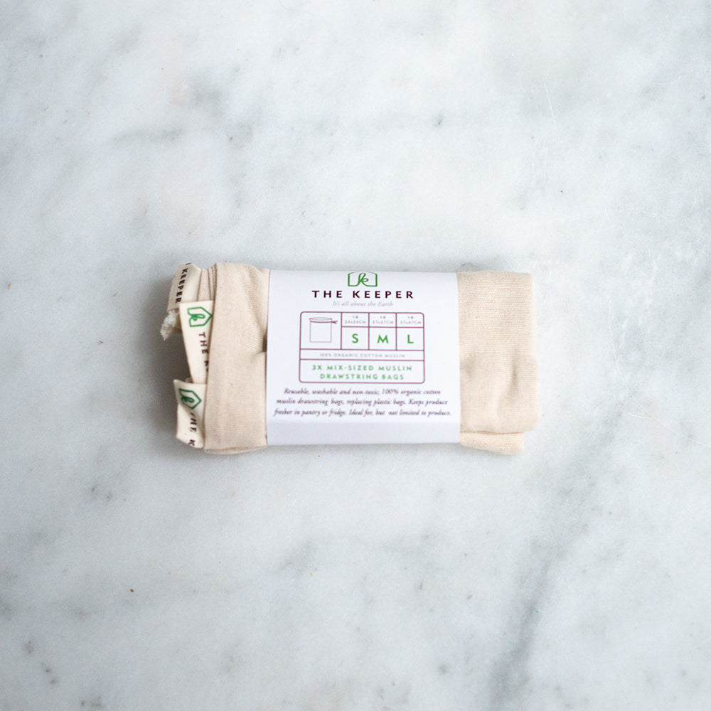 The Keeper Organic Cotton Produce Bags - Mixed Muslin