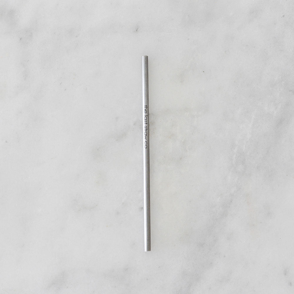 The Last Straw Co Stainless Steel Straw - Thin - Straight