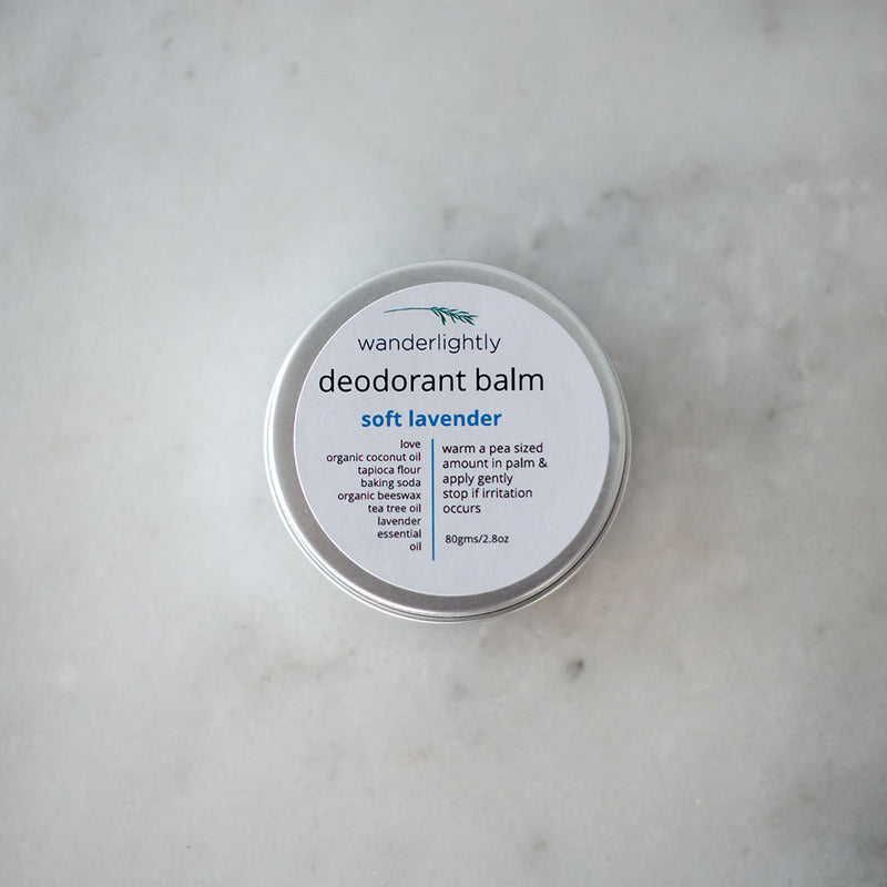 Wanderlightly Natural Deodorant Balm - Lavender
