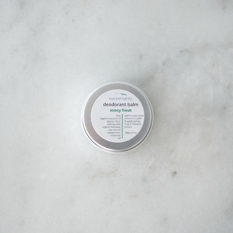 Wanderlightly Natural Deodorant Balm - Mint