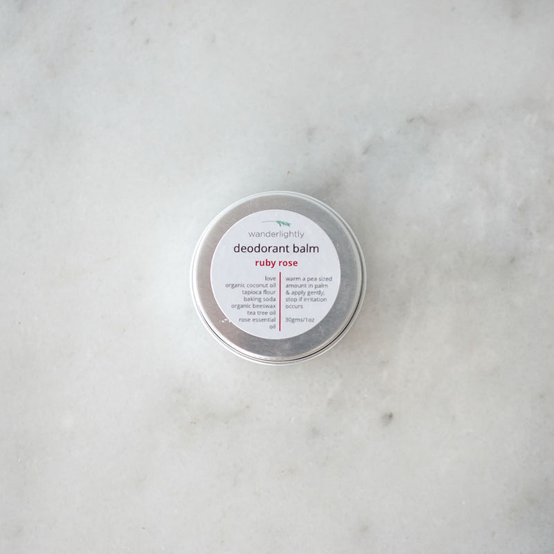 Wanderlightly Natural Deodorant Balm - Rose
