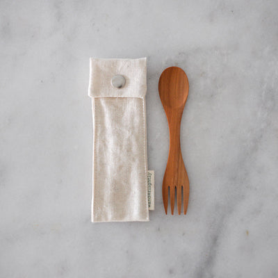 Wanderlightly Spork in Organic Hemp and Cotton Pouch