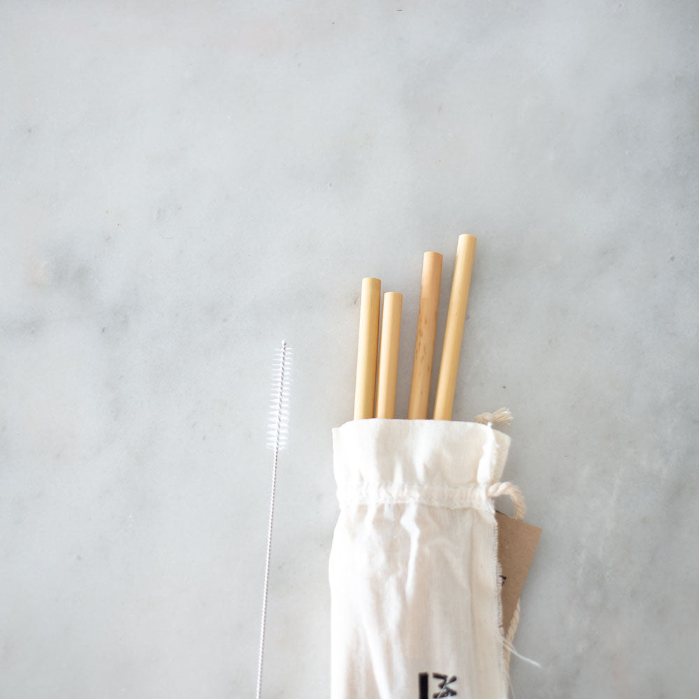 Your Straw Bamboo 4 Pack with Cleaner