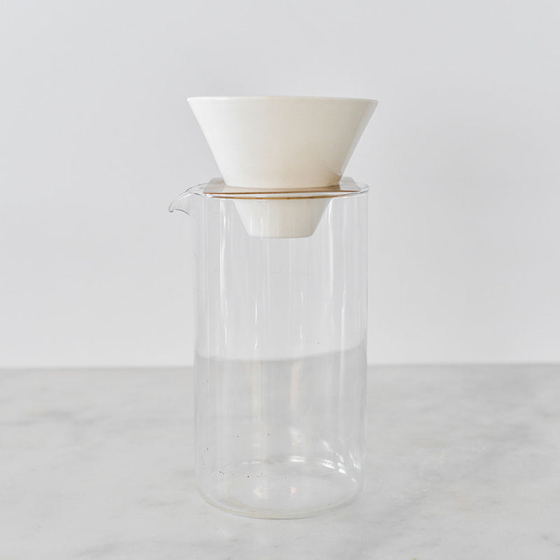 Two Piece Coffee Brewer - Brass