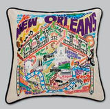 NEW ORLEANS EMBROIDERED PILLOW