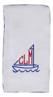 Monogram RB Sailboat includes monogram
