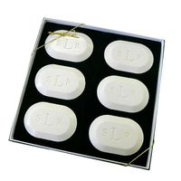 MONOGRAM OVAL SOAP GIFT SET OF 6