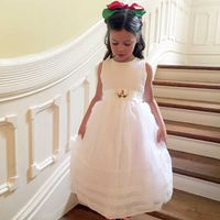 DRESSY DRESS SPECIAL OCCASION WHITE ORGANZA