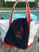 MONOGRAM BEACH TOWEL ANCHOR & NAME