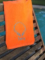 MONOGRAM BEACH TOWEL SHELL & NAME