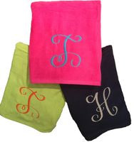 "MONOGRAM BEACH TOWEL 3"" NAME or INITIALS"