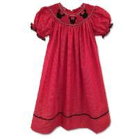 SMOCKED MOUSE BISHOP DOT DRESS