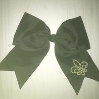 FLEUR DE LIS EMBROIDERED HAIRBOW