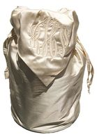 MONOGRAM SILK DRAWSTRING BAG
