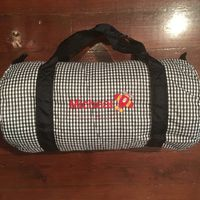 MONOGRAM DUFFLE GINGHAM BLACK