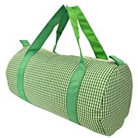 MONOGRAM DUFFLE GINGHAM GREEN