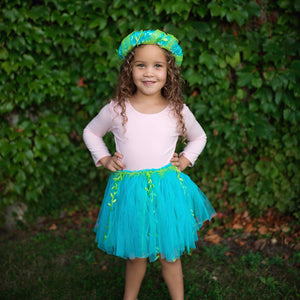 MERMAID TUTU SKIRT WITH TAIL & HEADBAND HALO