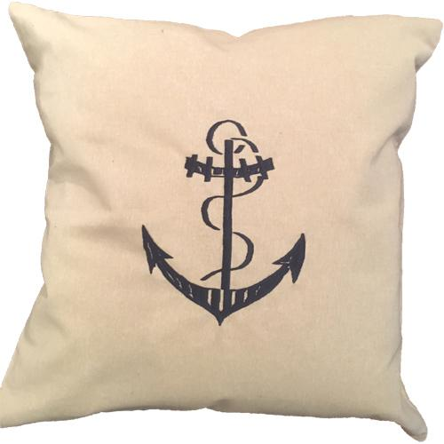 NAUTICAL EMBROIDERED PILLOW 24