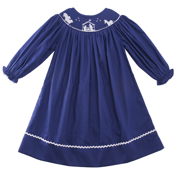 SMOCK NATIVITY CHRISTMAS DRESS