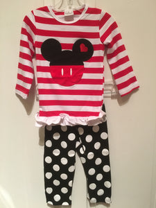 GIRLS MINNIE MOUSE 2PC SET