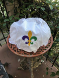 MARDI GRAS EMBROIDERED FLEUR de LIS EYELET DIAPER COVER