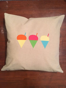 "EMBROIDERED SNOWBALL PILLOW 24""X24"" WITH INSERT"