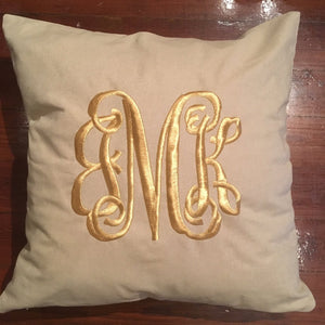 "MONOGRAM PILLOW 24""X24"" WITH INSERT"