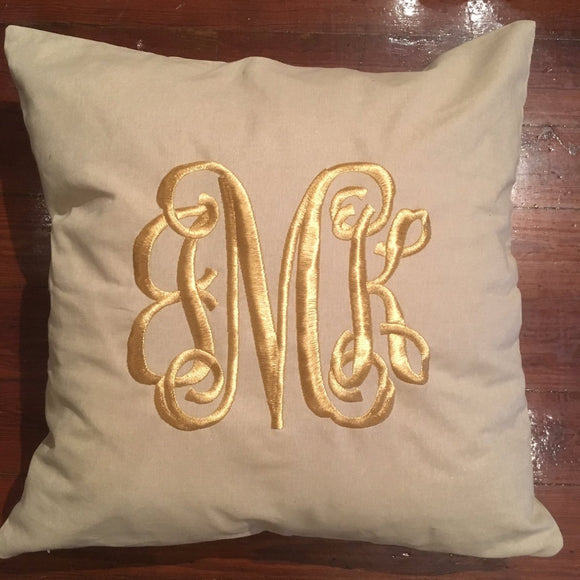 MONOGRAM PILLOW 24