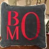 MONOGRAM WEDGE SUEDE CLOTH PILLOW
