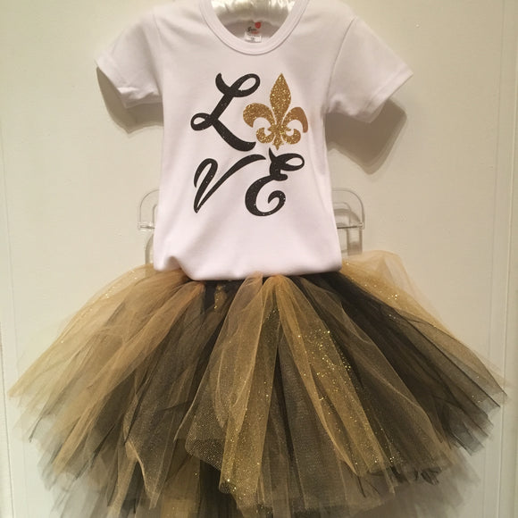 GIRLS SAINTS GLITTER TUTU
