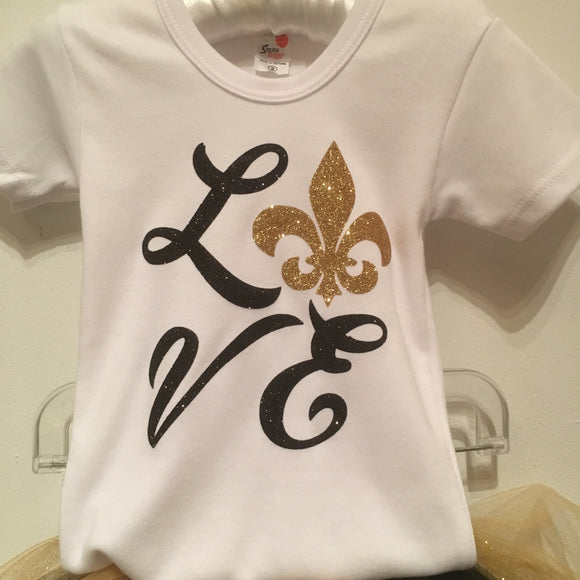 GIRLS GLITTER SAINTS T SHIRT