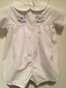 EMBROIDERED BABY WHITE ROMPER