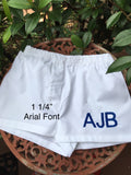 EMBROIDERED INITIALS, MONOGRAM, or NAME BABY BOXERS DIAPER COVER