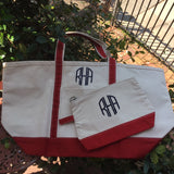 MONOGRAM CANVAS LARGE TOTE BAG