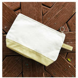 MONOGRAM METALLIC GOLD CANVAS MAKEUP BAG or POUCH