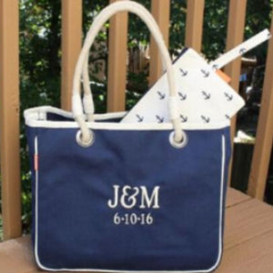 MONOGRAM CANVAS ROPE TOTE