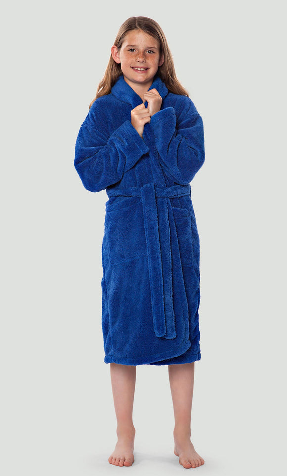 KIDS MONOGRAM SHAWL COLLAR TERRY ROBE or COVER UP