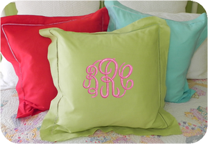 "MONOGRAM PILLOW LINEN 20""X20"" WITH INSERT"