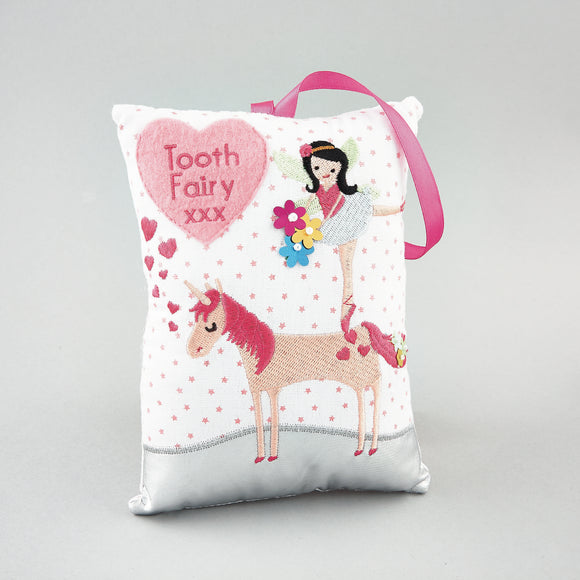 TOOTH FAIRY UNICORN PILLOW BY FLOSS & ROCK